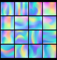 holographic abstract backgrounds big set vector image