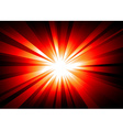 LIght Explosion Background wth Orange and Red vector image