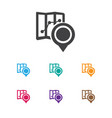 of map symbol on map icon vector image