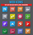 set of seo and development icons set vector image