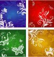 Vegetative and flower ornament vector image
