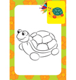 Turtle toy vector image vector image