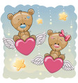 cute lovers bears vector image