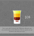 alcoholic cocktail b-52 card template vector image