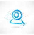 web camera grunge icon vector image vector image