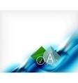 Blue aqua wave designed business poster vector image