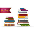 Stack of multi colored books vector image