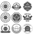 Set of Mixed Martial Arts labels badges vector image