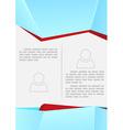 Brochure or flyer modern design template vector image