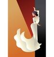 Art Deco styled Spain Flamenco dancer vector image