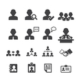 business persons and users icon vector image