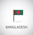 bangladesh flag pin vector image