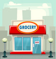 cartoon typical grocery retail store building vector image