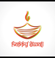 Colorful diya for Diwali vector image