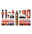 England London UK Set icons vector image