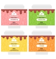 fruit ice cream package design vector image