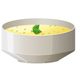 Hot soup in bowl vector image