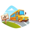 school bus on background vector image