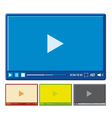 video player for web vector image