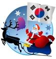 Merry Christmas South Korea vector image vector image