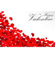 valentine heart on a white background vector image