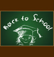 Back to school - sketch of a girl vector image