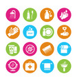 hygiene viruses and bacterias icons vector image vector image