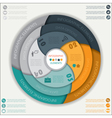 Modern infographic template with circle vector image vector image