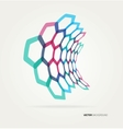 Abstract wave hexagons template vector image