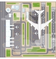 Airport landing strips top view vector image vector image