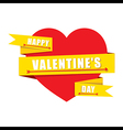 creative valentines greeting design or share love vector image