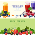 Fresh Berries 2 Flat Banners Set vector image