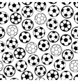 Soccer game seamless pattern with football balls vector image