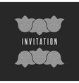 Tulip flowers wedding hipster invitation frame vector image