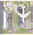Airport landing strips top view vector image