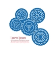 Background with line gears vector image
