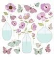 Clipart flower vase vector image