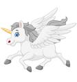 cute running unicorn vector image