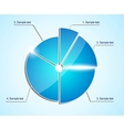 Glossy business pie chart diagram Infographic vector image