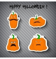 Halloween pumpkins - stickers vector image