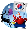 Merry Christmas South Korea vector image