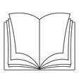 schoolbook icon outline style vector image