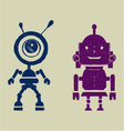 Robot silhouettest vector image vector image