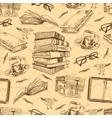 Vintage books seamless pattern vector image
