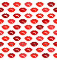 Cute fun red lips kiss seamless pattern vector image vector image