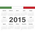 Italian circle calendar 2015 vector image