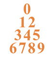 digits 09 vector image