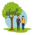 Young people relationship vector image
