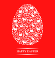 texture egg red vector image vector image