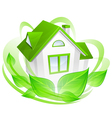 Ecology house vector image vector image